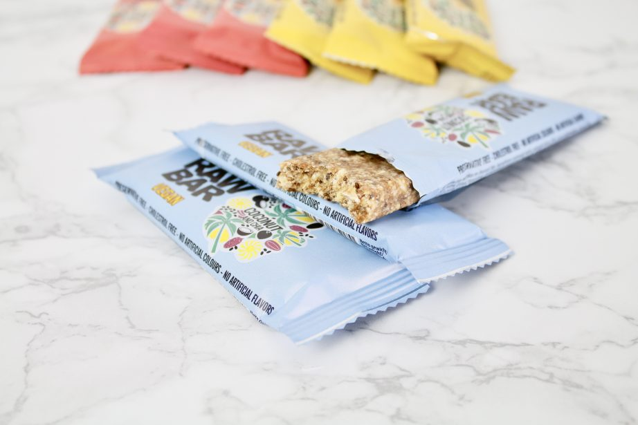 vegan bars action coconut and chia