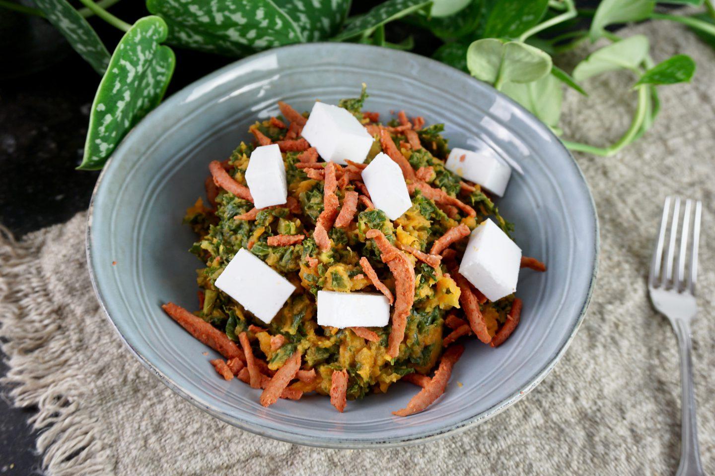 Recept | Boerenkoolstamppot met zoete aardappel