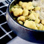 Snelle groene curry 2 vegan