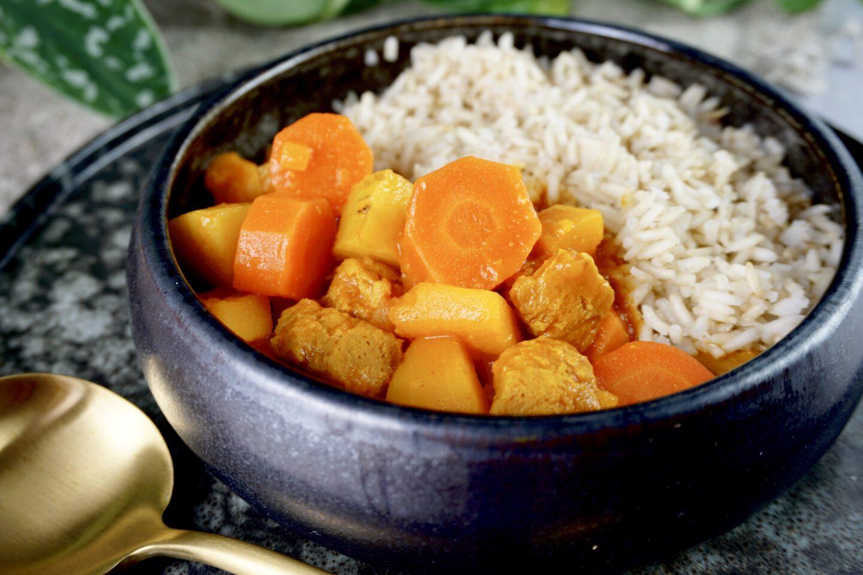 Recept | Vegan stoofpot met soja brokken