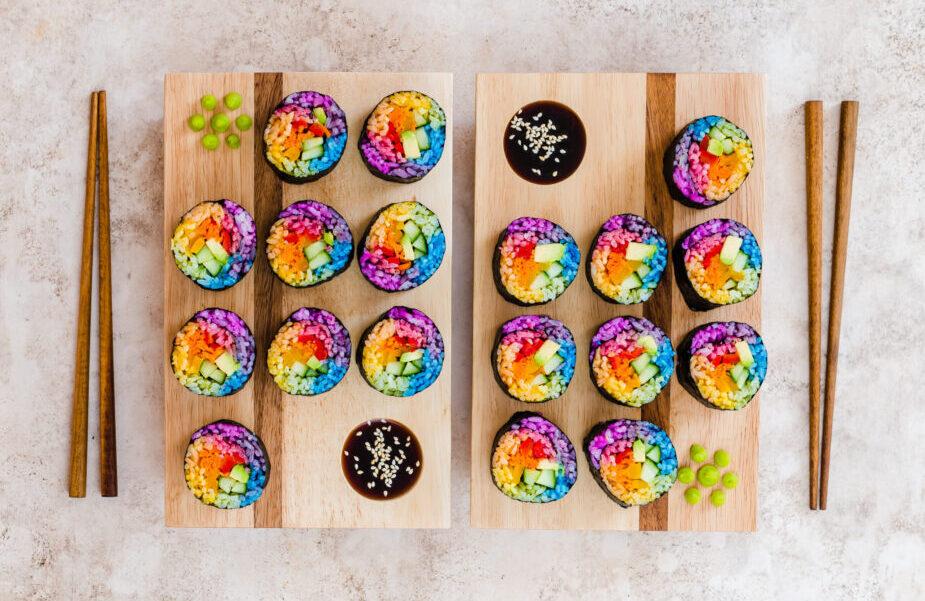 Vegan soul food - Regenboog maki