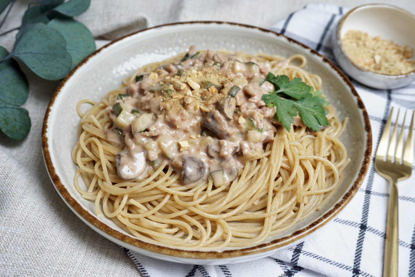 Recept | Vegan Pasta Carbonara